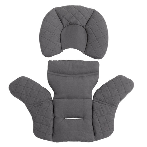 Nuna Grey PIPA Series Insert Organic Cotton Infant Car Seat Accessory dark