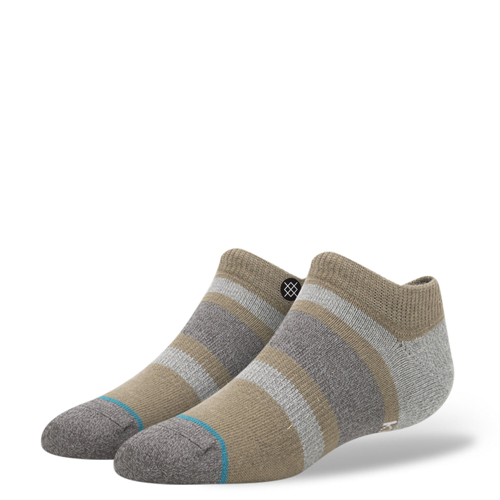 Stance Toddler Boys Boyd Low Socks brown grey stripe ankle