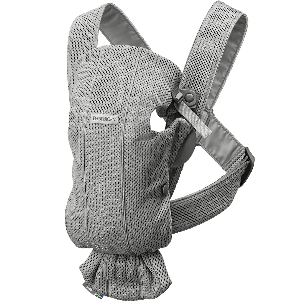 BabyBjorn Ergonomic Newborn Adjustable Baby Carrier Mini mesh grey light