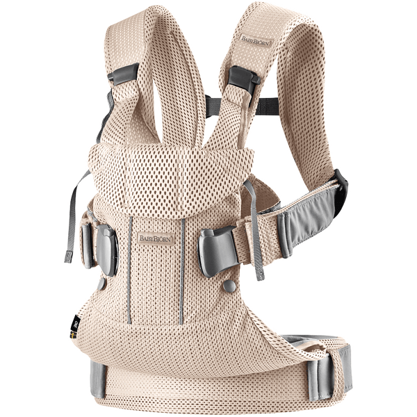 Outlet BabyBjorn Ergonomic One Air Cool Mesh Adjustable Baby Carrier pearly pink light