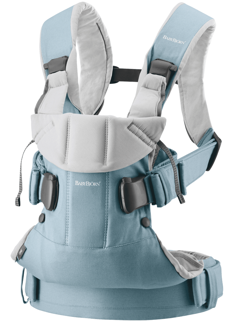 BabyBjorn ONE Baby Carrier light blue grey