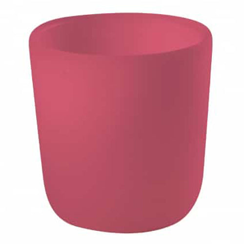 Béaba Silicone Ergonomic Children's Anti-Slip Bottom Cup pink dark