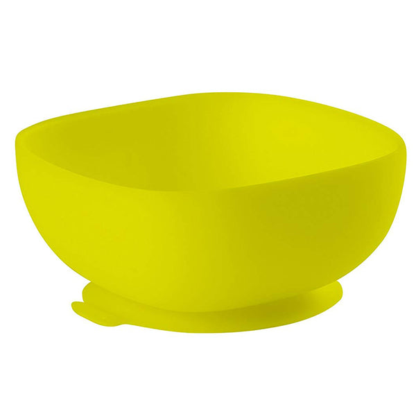 Béaba Silicone Children's Suction Bottom Bowl neon light green yellow