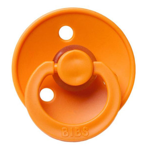 BIBS Infant BPA-Free Natural Rubber Newborn Baby Pacifiers apricot orange