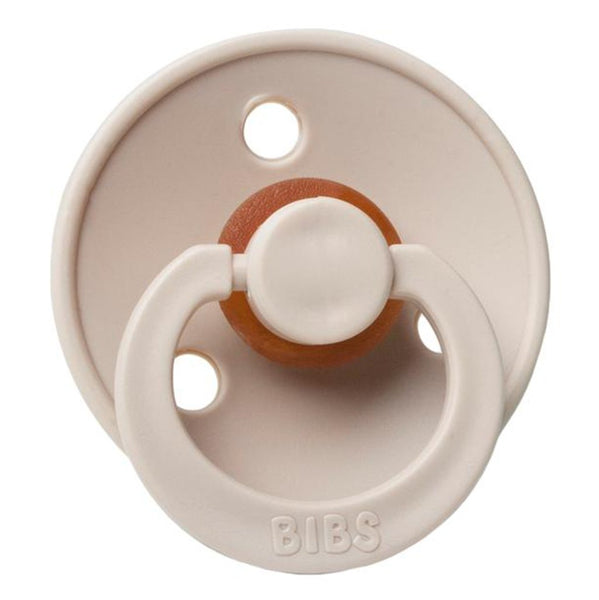BIBS Infant BPA-Free Natural Rubber Newborn Baby Pacifiers beige neutral brown
