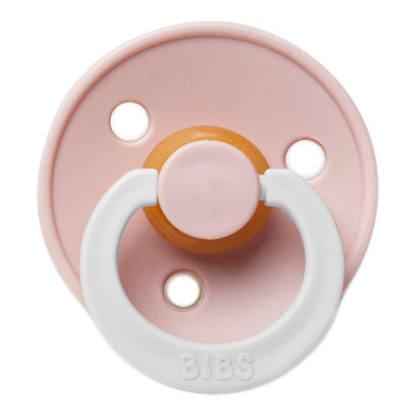 BIBS Infant BPA-Free Natural Rubber Newborn Baby Pacifiers blush glow-in-the-dark white light pink neutral