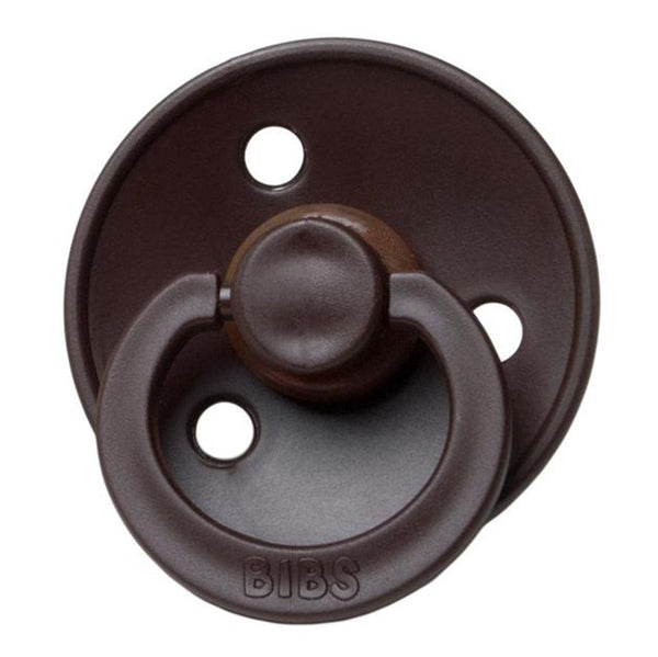 BIBS Infant BPA-Free Natural Rubber Newborn Baby Pacifiers chocolate dark brown