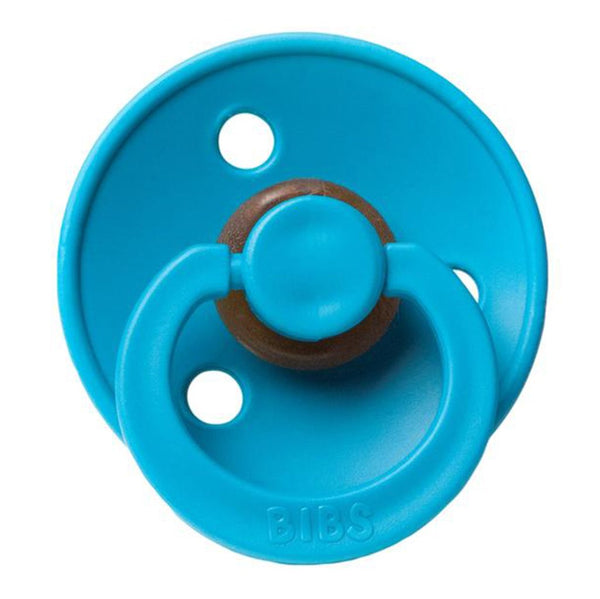 BIBS Infant BPA-Free Natural Rubber Newborn Baby Pacifiers dark teal bright blue