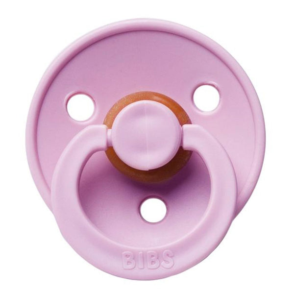 BIBS Infant BPA-Free Natural Rubber Newborn Baby Pacifiers heather light pink pastel neutral