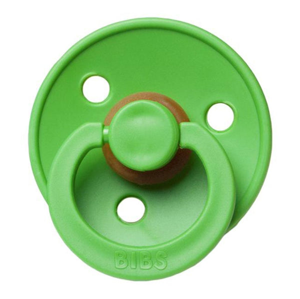 BIBS Infant BPA-Free Natural Rubber Newborn Baby Pacifiers pear green medium warm