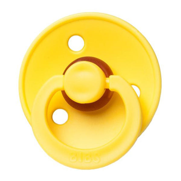 BIBS Infant BPA-Free Natural Rubber Newborn Baby Pacifiers pineapple bright yellow