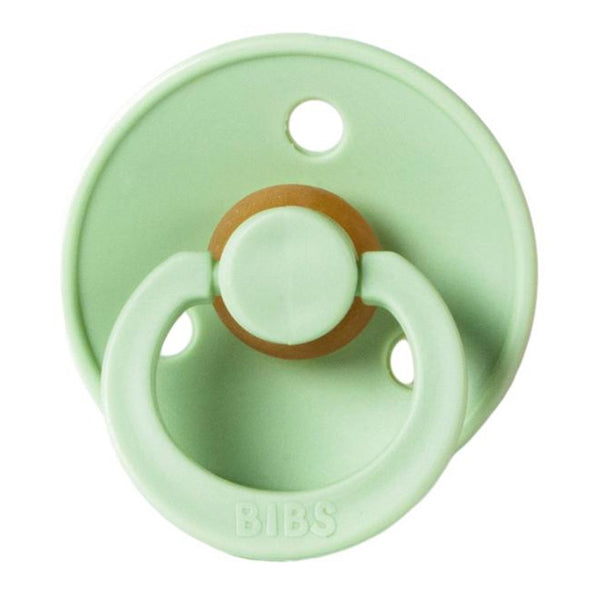 BIBS Infant BPA-Free Natural Rubber Newborn Baby Pacifiers pistachio light neutral pastel green