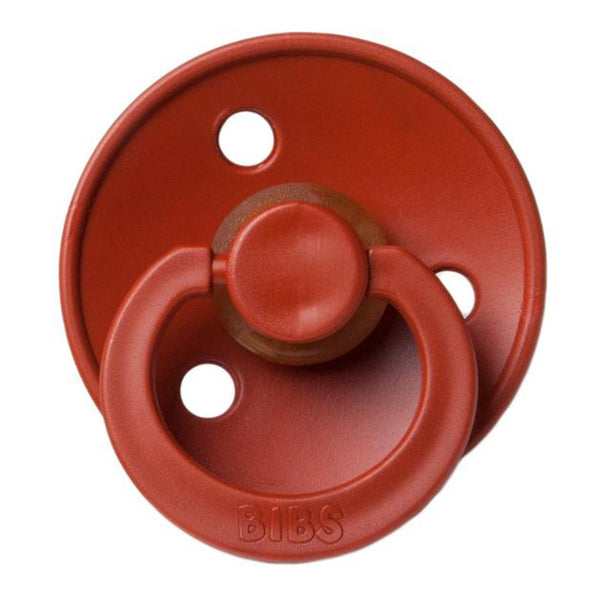 BIBS Infant BPA-Free Natural Rubber Newborn Baby Pacifiers rust warm red subtle orange mix