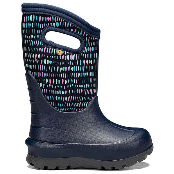 BOGS Neo-Classic Twinkle Dark Blue Toddler Boot Shoes multicolored navy pink purple pastel tic marks