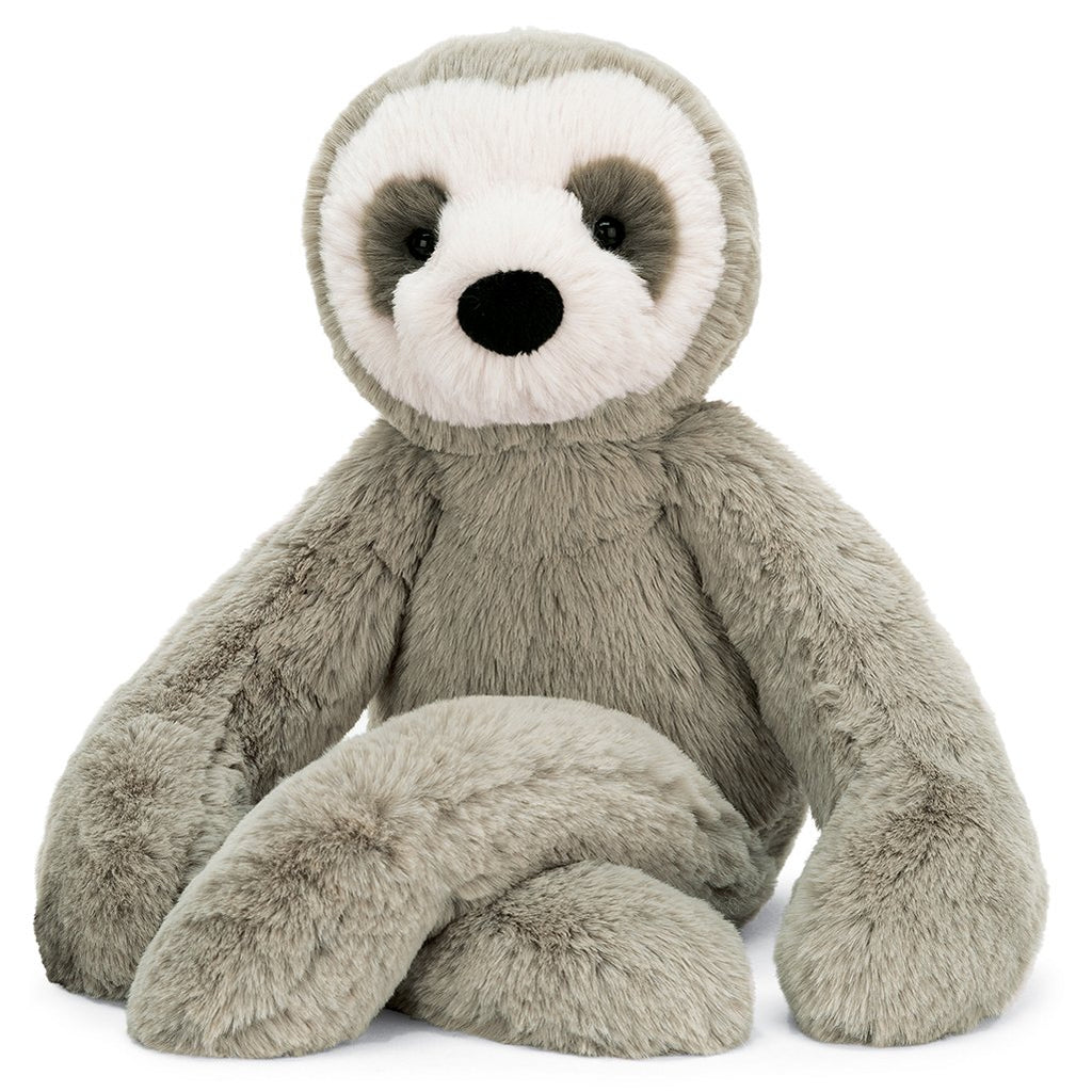 Jellycat Bailey Sloth Children's Stuffed Animals Toy grey and white
