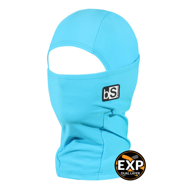 BlackStrap Kids Expedition Hood Dual Layer Balaclava Face Mask bright blue
