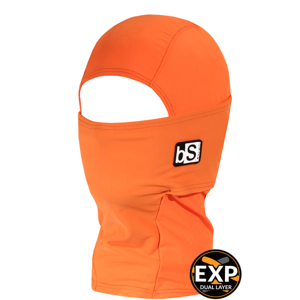 BlackStrap Kids Expedition Hood Dual Layer Balaclava Face Mask bright orange