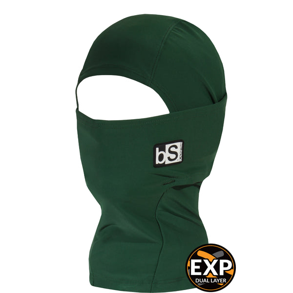 BlackStrap Kids Expedition Hood Dual Layer Balaclava Face Mask forest green dark