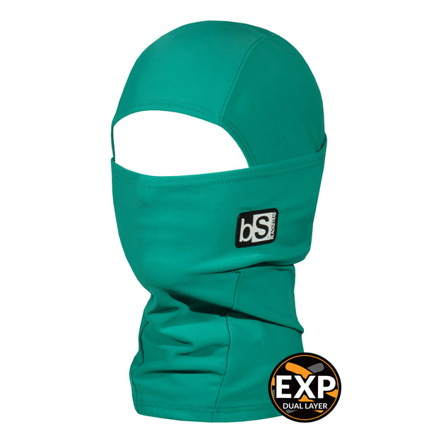 BlackStrap Kids Expedition Hood Dual Layer Balaclava Face Mask jade green teal