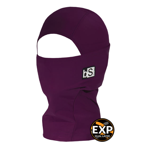 BlackStrap Kids Expedition Hood Dual Layer Balaclava Face Mask merlot dark purple