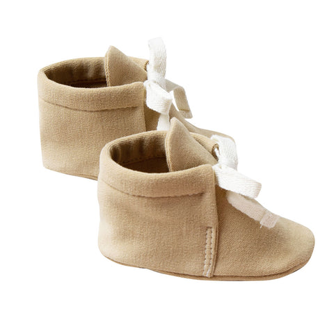 Quincy 100% Organic Cotton Tie-UP Infant Baby Bootie Shoes honey yellow