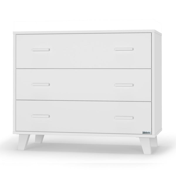 dadada White Brooklyn 3-Drawer Dresser Children's Nursery Furniture