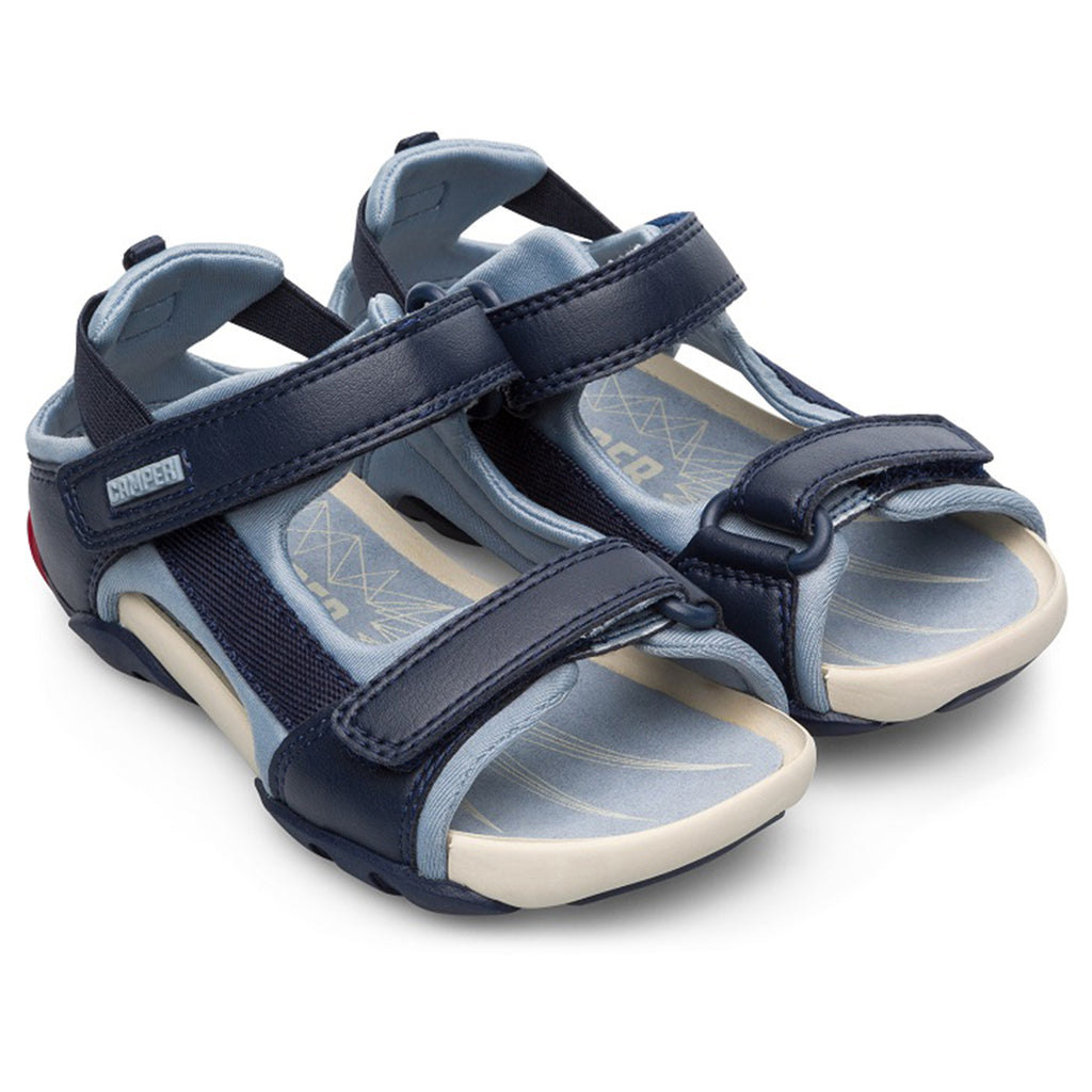 Camper Ous Sandals Jedi Hypnosis Multicolored Children's Shoes dark navy blue light sky blue detail sole