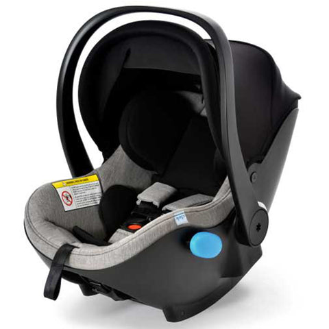 Clek Liingo Infant Car Seat Baseless Lightweight Rear-Facing thunder grey melange heather