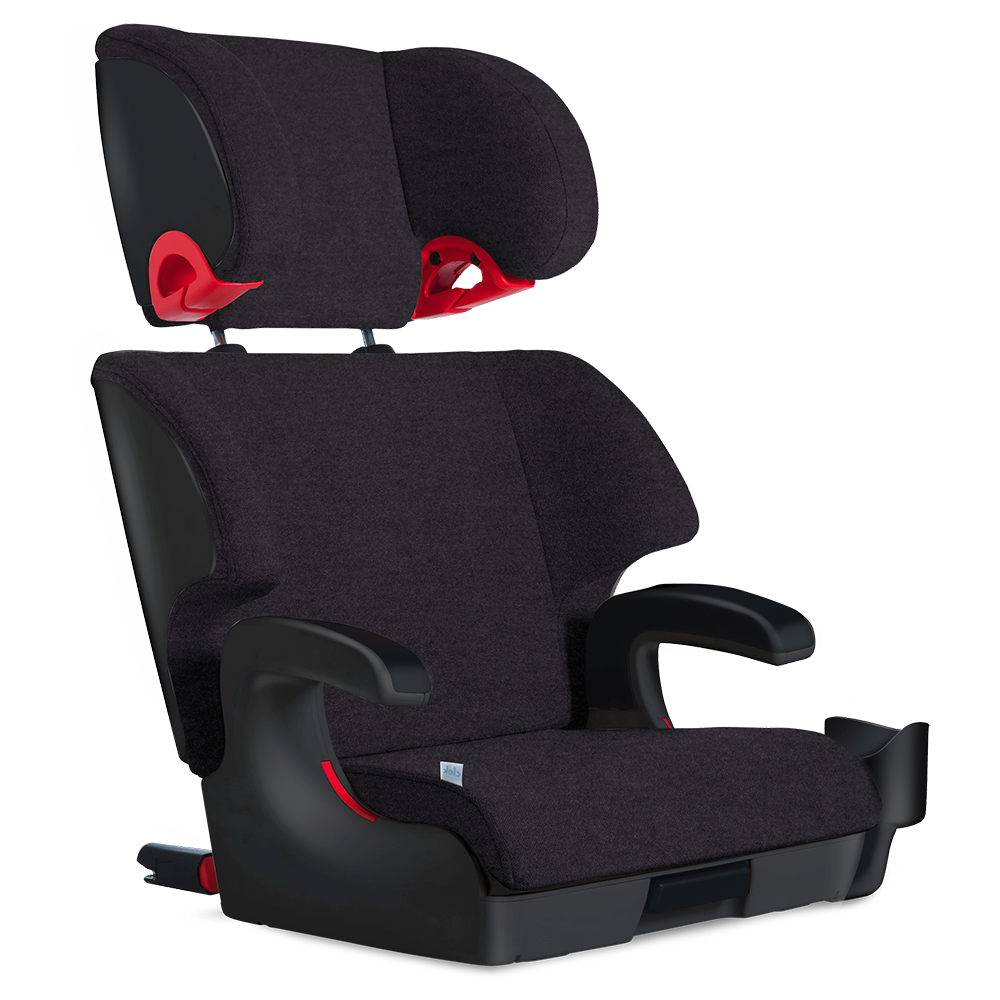 Clek Oobr Child Safety Booster Car Seat mammoth black wool