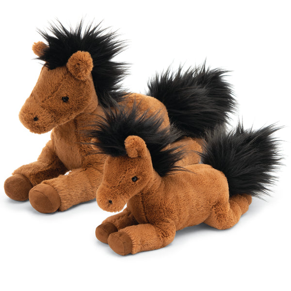 Jellycat Lovely Lollers Plush Children's Stuffed Animal Toy clover pony brown black hair small medium