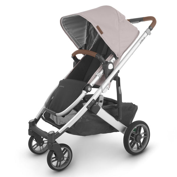 UPPAbaby Full-Size Compact & Versatile CRUZ V2 Infant Baby Stroller alice dusty pink silver frame saddle leather