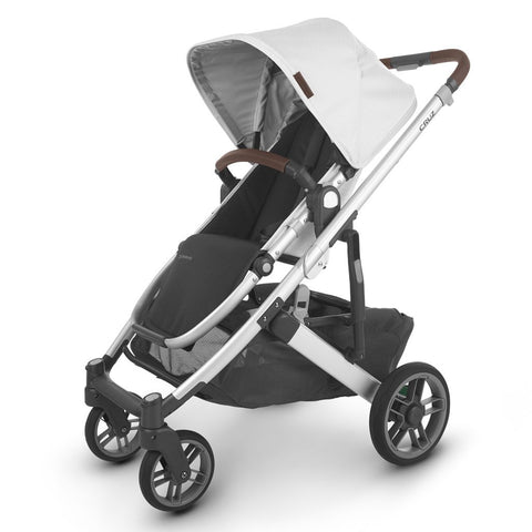 UPPAbaby Full-Size Compact & Versatile CRUZ V2 Infant Baby Stroller bryce white marl silver frame chestnut leather