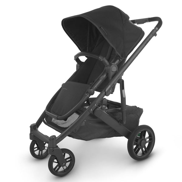 UPPAbaby Full-Size Compact & Versatile CRUZ V2 Infant Baby Stroller jake charcoal black carbon frame black leather