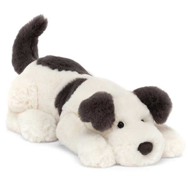 Jellycat Dashing Dog Plush Children's Stuffed Animal Toy white black spots little sized