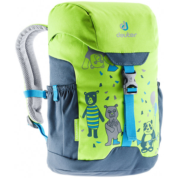 Deuter Schmusebar Child Backpack kiwi arctic green navy blue bears