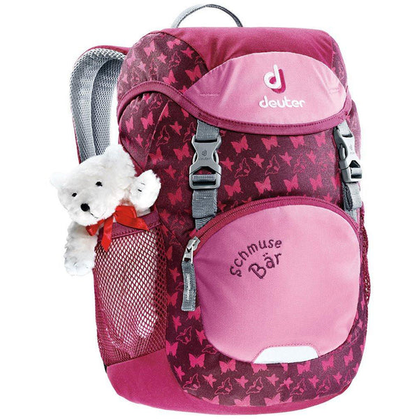 Deuter Schmusebar Child Backpack magenta dark light pink teddy bear