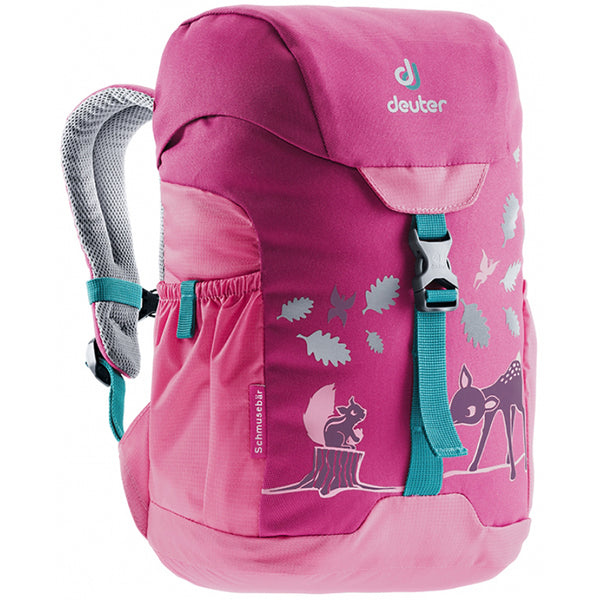 Deuter Schmusebar Child Backpack magenta hot pink forest deer