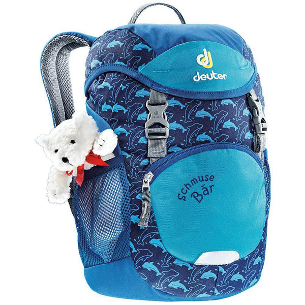 Deuter Schmusebar Child Backpack ocean blue dark light teddy bear