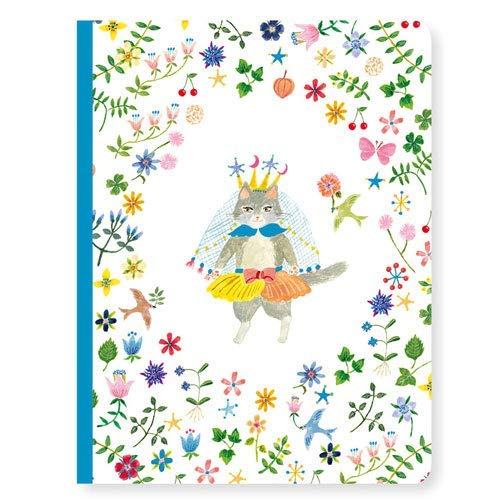 Djeco Childrens Aiko Journal Notebook dressed up cat in garden crown