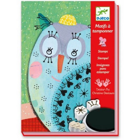 Djeco Arts & Crafts Children's Fur & Feather Stamp Set