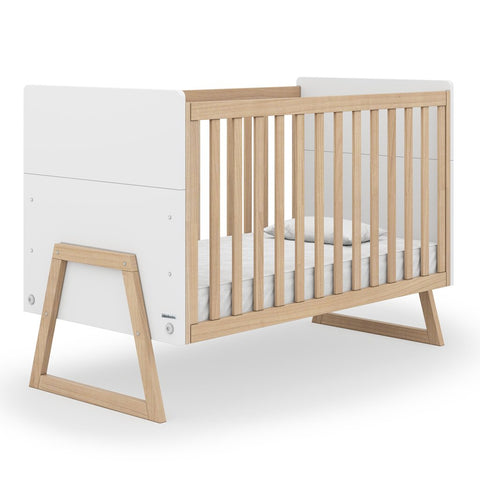 dadada White Domino 2-in-1 Convertible Crib to Toddler Bed Furniture
