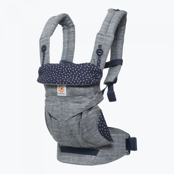 ergobaby 360 all position baby carrier with lumbar support ergonomic comfortable adjustable stardust grey navy