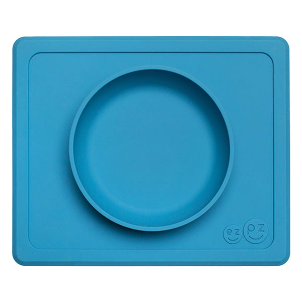 EZPZ Silicone Mini Bowl All-in-One Placemat and Bowl for Baby blue