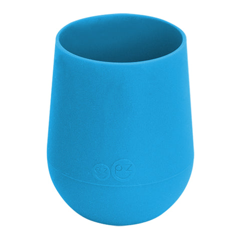 EZPZ Silicone Mini Cup Infant Toddler Dining Ware blue