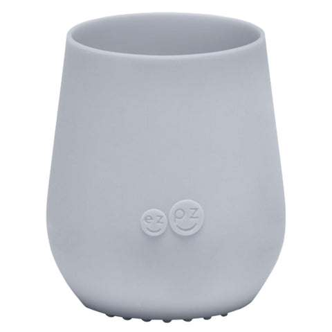 EZPZ Pewter Mini Cup Silicone Infant Toddler Dining Ware light grey