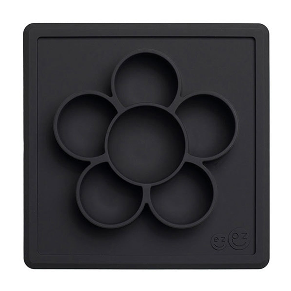 EZPZ Silicone Multi-Compartment Crafting Mini Play Mat for Kids slate black