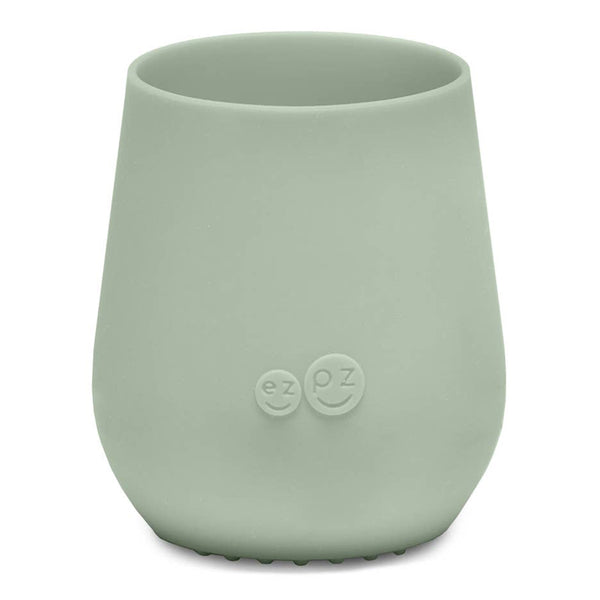 EZPZ Silicone Tiny Cup Infant Toddler Dining Ware sage green light neutral
