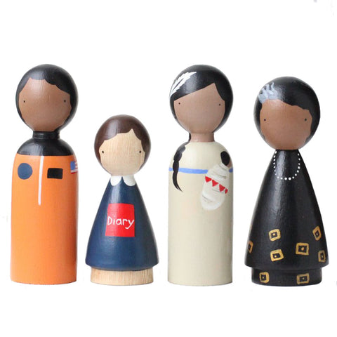 Goose Grease Trailblazers II Children's Handmade Wooden Peg Doll Toy