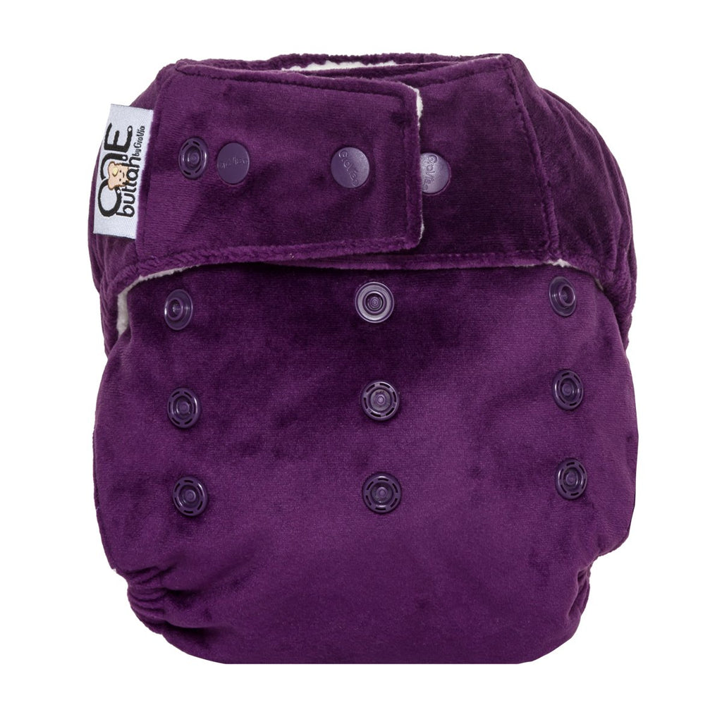 GroVia Celie Buttah O.N.E. All-In-One Reusable Cloth Baby Diaper dark purple