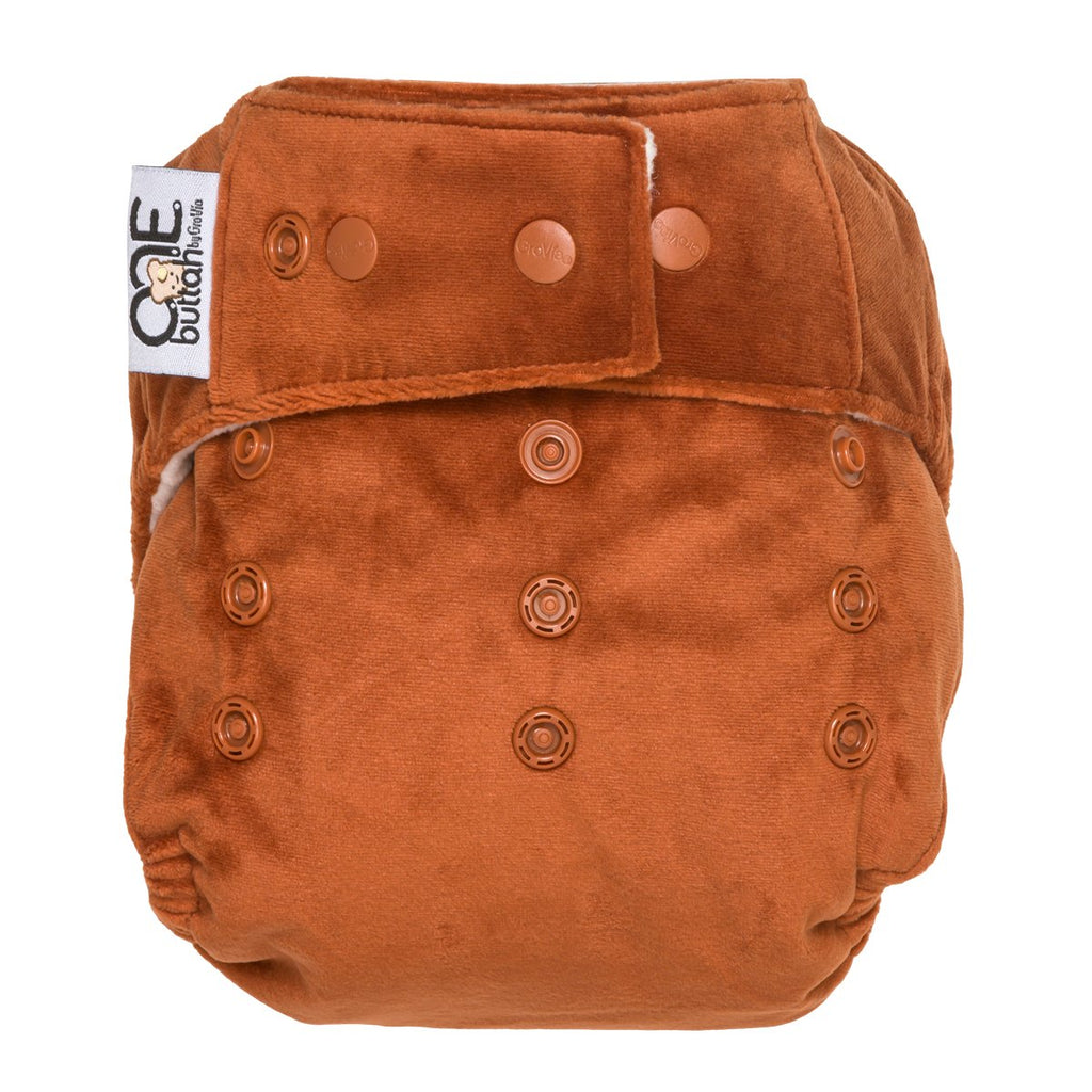 Spice Buttah O.N.E. Velour Cloth Baby Diaper